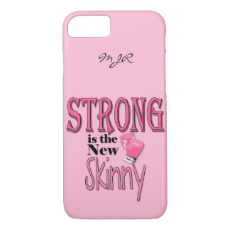 STRONG is the new Skinny! Pink Boxing Gloves iPhone 7 Case