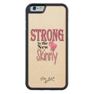 STRONG is the new Skinny! Pink Boxing Gloves Maple iPhone 6 Bumper Case