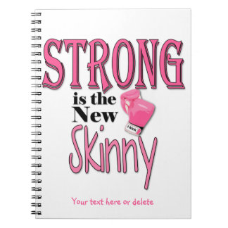 STRONG is the new Skinny! With Pink Boxing Gloves Notebook