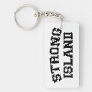 Strong Island, NYC, USA Keychain