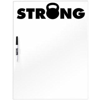 STRONG - Kettlebell Workout Motivational Dry Erase Board