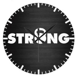 STRONG - Kettlebell Workout Motivational Large Clock