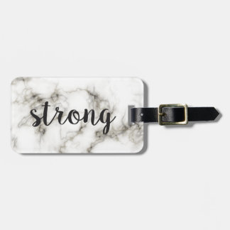 Strong marble luggage tag