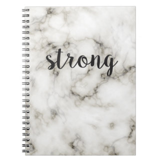 Strong marble spiral notebook