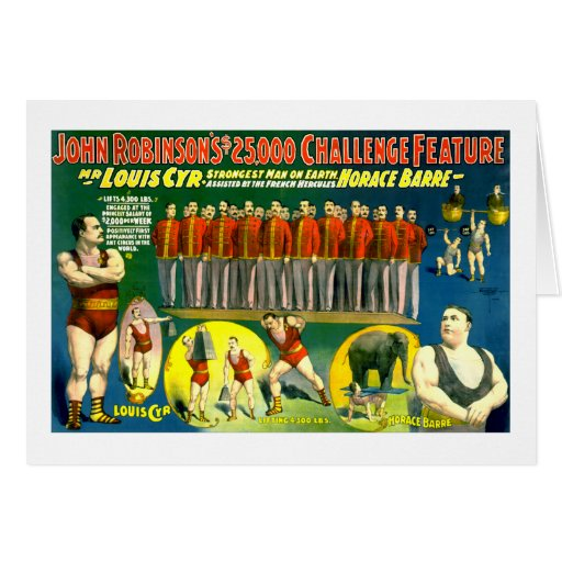 Strong Men Circus Show Vintage 1898 Poster Cards