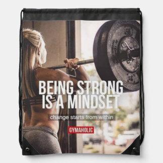Strong Mindset - Women's Fitness Inspirational Drawstring Bag