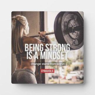 Strong Mindset - Women's Fitness Inspirational Plaque