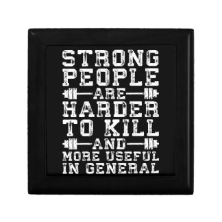 Strong People Are Harder To Kill - Workout Gift Box