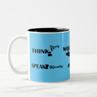 'Strong people'  Two-Tone Mug