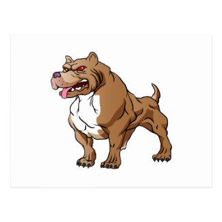 strong pitbull bodybuilder. postcard