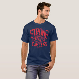 Strong Print Navy T shirt