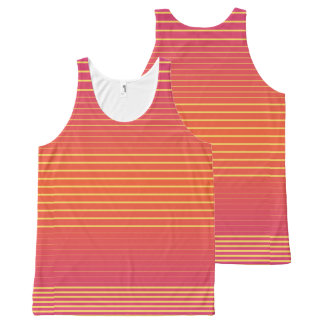 Strong Stripes (flame-primrose) All-Over-Print Tank Top