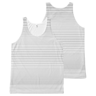 Strong Stripes (light grey) All-Over-Print Tank Top