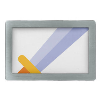 Strong Sword Rectangular Belt Buckle
