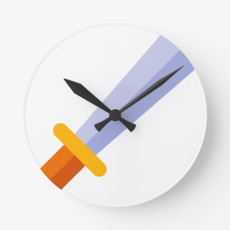 Strong Sword Round Clock