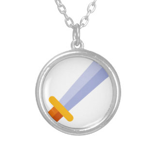 Strong Sword Silver Plated Necklace