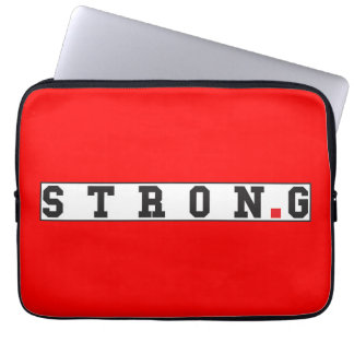 strong text message emotion feel red dot square computer sleeves