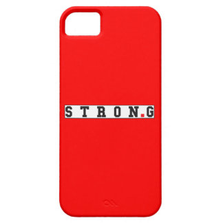 strong text message emotion feel red dot square iPhone 5 case
