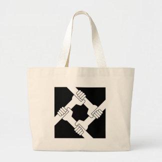 strong together large tote bag