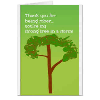 Strong tree of sobriety card