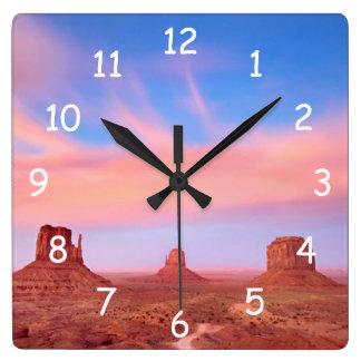 Strong Winds over Desert Valley Clocks