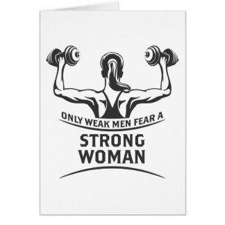 Strong Woman Greeting Card