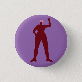 Strong Woman in a Pink Hat 1 Inch Round Button
