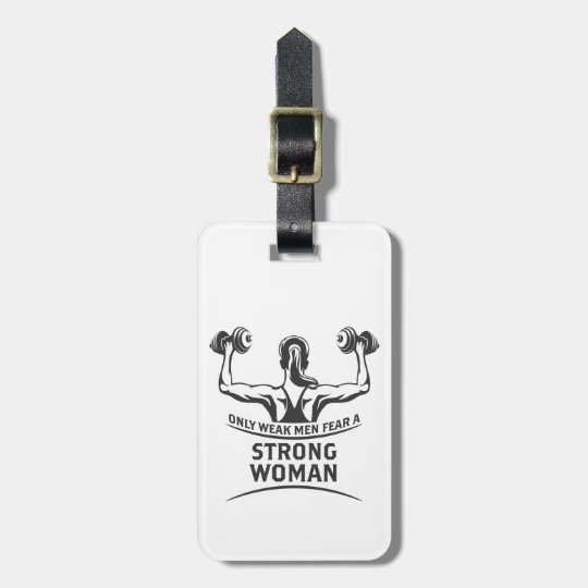 Strong Woman Luggage Tag