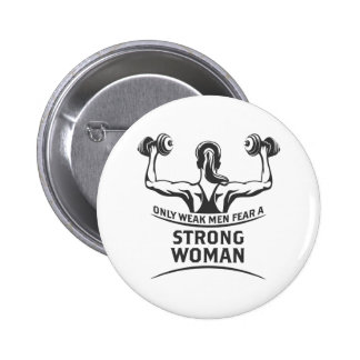 Strong Woman Round Button