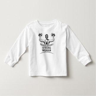 Strong Woman Toddler Long Sleeve T-Shirt