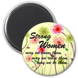 Strong Women 2 Inch Round Magnet