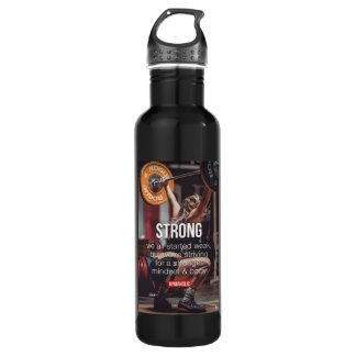 STRONG, Women's Weight Lifting Inspirational Words 710 Ml Water Bottle