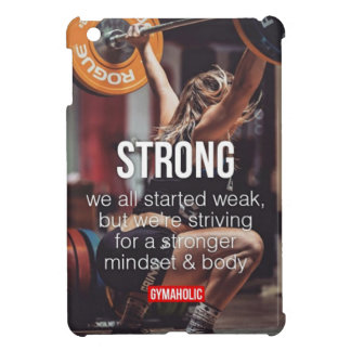 STRONG, Women's Weight Lifting Inspirational Words Case For The iPad Mini