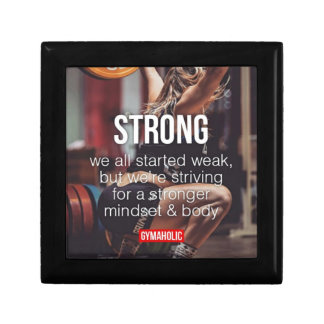 STRONG, Women's Weight Lifting Inspirational Words Gift Box