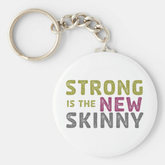 Stronge is the New Skinny - Sketch Basic Round Button Keychain