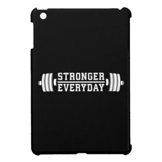 Stronger Everyday - Workout Inspirational iPad Mini Covers