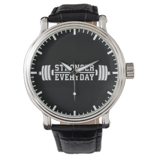Stronger Everyday - Workout Inspirational Watch