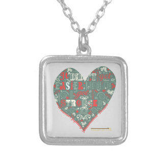 """""""Stronger"""" Silver Plated Necklace"""