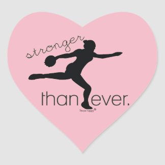 Stronger Than Ever Discus Throw Stickers Gift