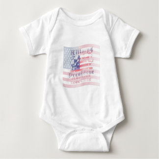 Stronger together USA Hillary 4 President American Baby Bodysuit
