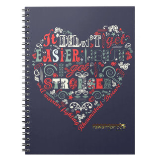 Stronger with heart notebooks