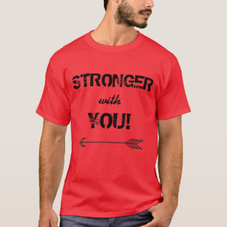 STRONGER with You Boyfriend T Shirt Red