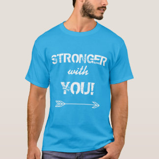 STRONGER with You Boyfriend Teal Tshirt