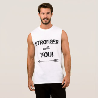 STRONGER with You Boyfriend White Sleeveless Shirt