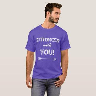 STRONGER with You Sweetheart Purple Tshirt