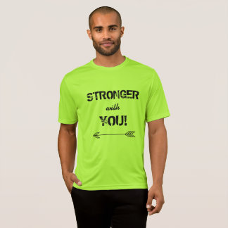 STRONGER with You Sweetheart Tshirt Lime Shock