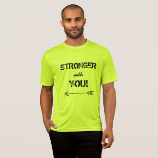 STRONGER with You Sweetheart Tshirt Neon Yellow