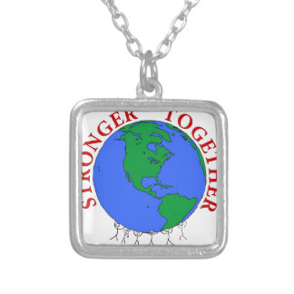 strongerTogether Silver Plated Necklace
