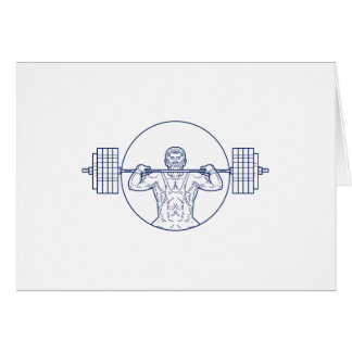 Strongman Lifting Weight Mono Line Card