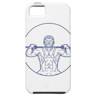 Strongman Lifting Weight Mono Line iPhone 5 Case